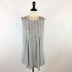 Anthropologie akemi + kin black white stripe  top